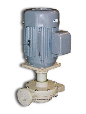 Короткомуфтовые консольные насосы Fybroc для скрубберов, дренажные и циркуляционные насосы